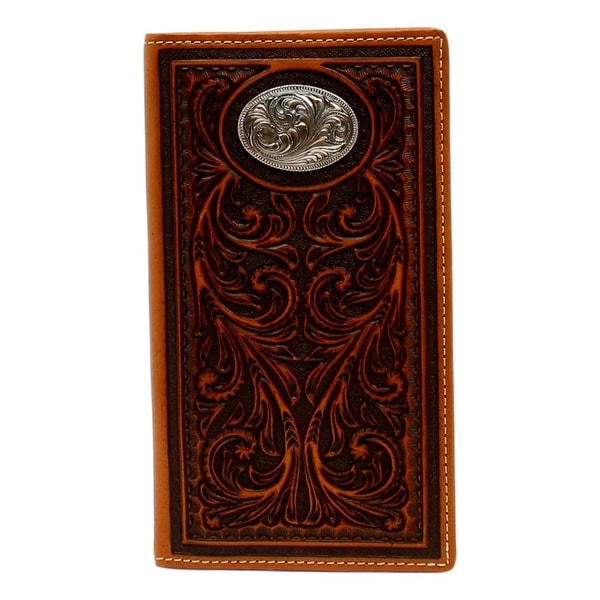 Nocona Western Wallet Mens Pro Series Rodeo Oval Concho Tan - One size