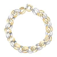 Two-Tone Link Bracelet in 14K Gold-Bonded Sterling Silver