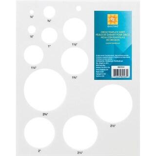 Circles Template Sheet-