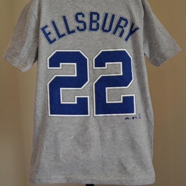 b1cc64ed Minor Flaw-Ny Yankees Jacoby Ellsbury Youth Small S 8 Shirt
