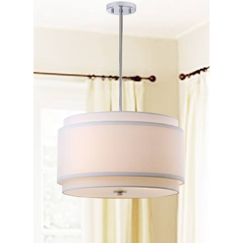 "Safavieh Lighting Piran Adjustable 3-light LED White Pendant - 20""x20""x12-48"""