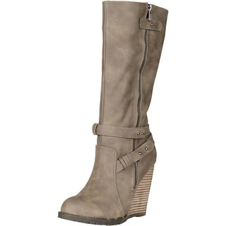 Volatile Women's Kearney Suede Wedge Boots