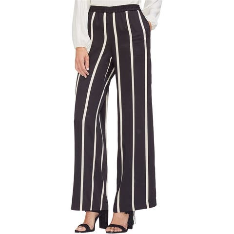 Vince Camuto Womens Dramatic Stripe Casual Wide Leg Pants