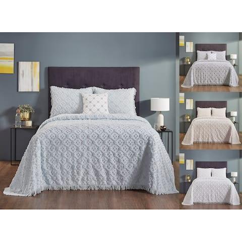 Better Trends Charleston 100 Percent Cotton 4-Piece Bedspread Set