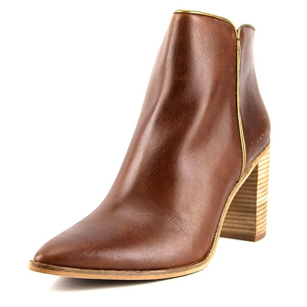 Lucky Brand Mytah Women Pointed Toe Leather Bootie