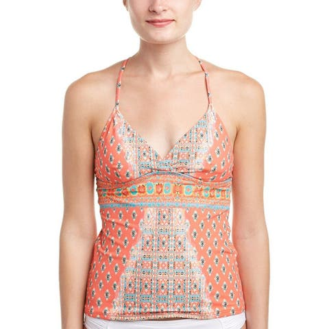 Nanette Lepore Women's Bindi Honey Tankini Top Coral XS - XS (US 0-2)