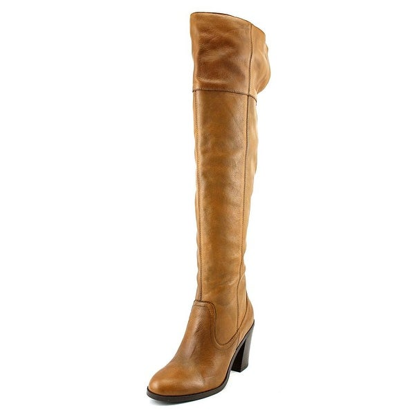 Corso Como Harrison Women  Round Toe Leather Brown Over the Knee Boot