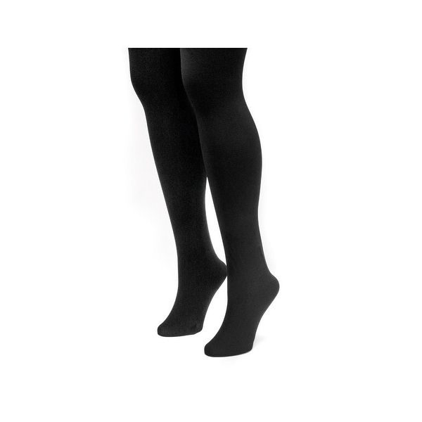 35abc1a5e3f633 Shop Muk Luks Tights Womens Fleece Lined Elastic Waist 2 pack - Free  Shipping On Orders Over $45 - Overstock.com - 18417485