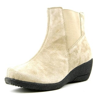 Propet Gwen W Round Toe Suede Ankle Boot