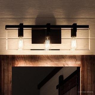 "Luxury Modern Farmhouse Bathroom Vanity Light, 8.38""H x 22.75""W, Industrial Chic Style, Olde Bronze Finish by Urban Ambiance"