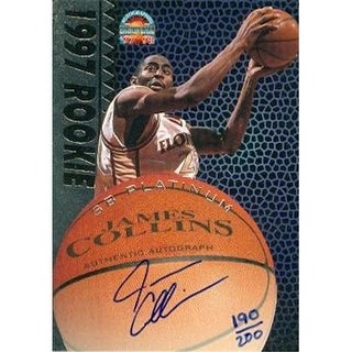 James Collins autographed Basketball Card (Florida State) 1997 Score