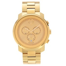 Movado Men's Slightly Blemished 3600278 'Bold' Goldplated Chronograph Bracelet Watch