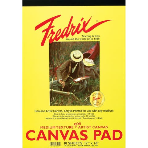 Tara/fredrix 3501 white real canvas pad 10 sheets 12x16