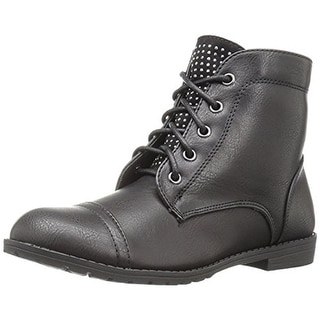 Report Girls Huddson Combat Boots Studded Faux Leather