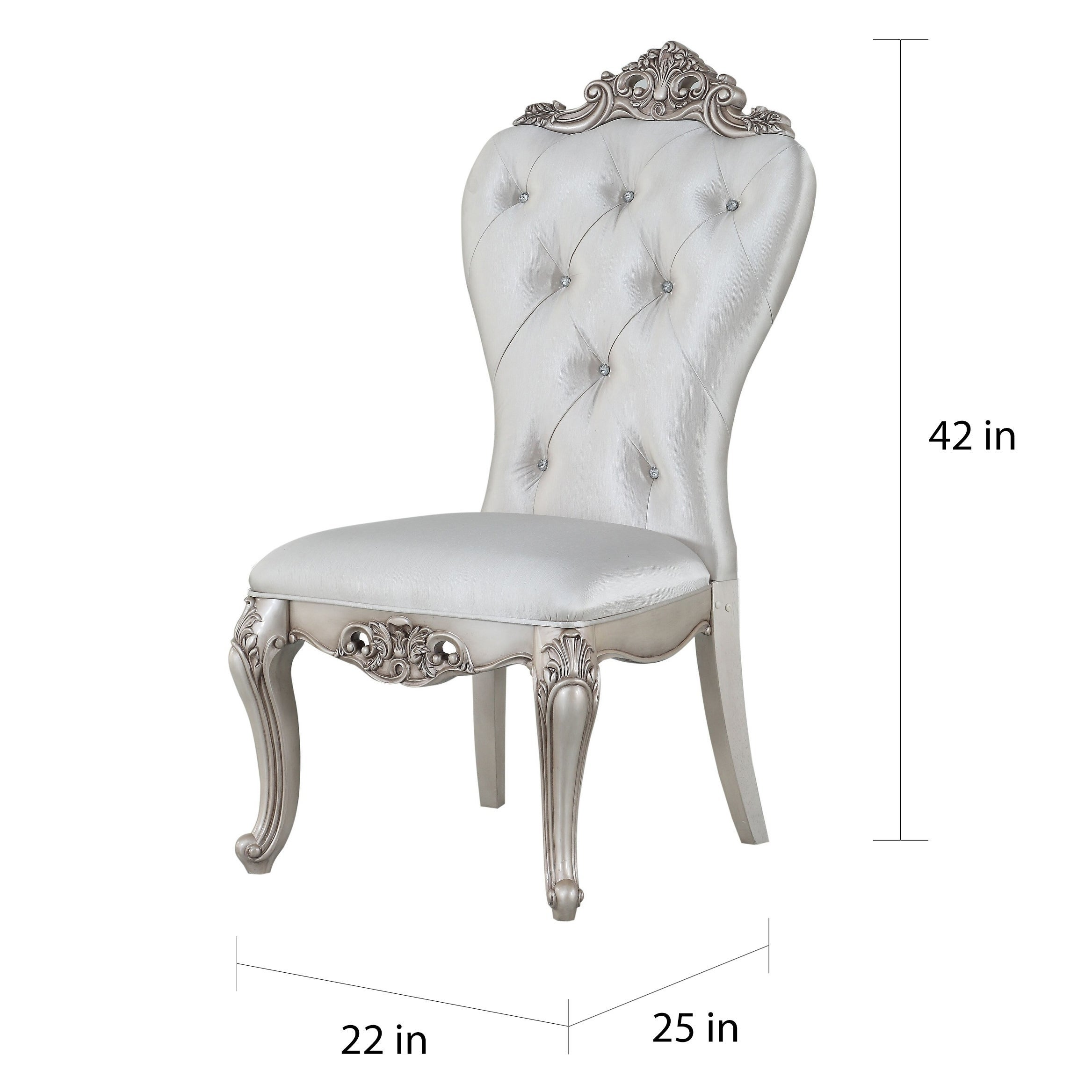 LARGE ARMCHAIR Wing High Back FABRIC Queen Anne Style Chair Grey Beige DARK GREY