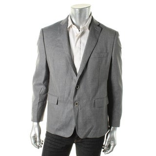 Ryan Seacrest Mens Range 02 Silk Blend Textured Two-Button Blazer