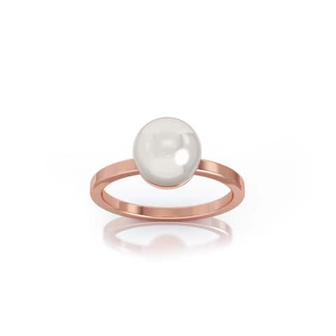 14K Gold 7MM Akoya Cultured Pearl Ring by Noray Designs