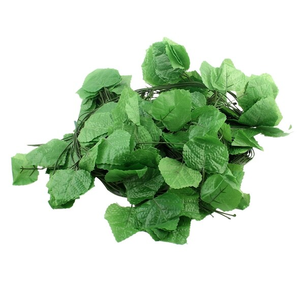 Unique BargainsHousehold Living Room Plastic Artificial Grape Vine Leaves Decoration 11pcs