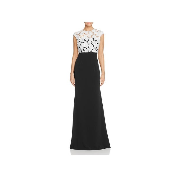 Shop Carmen Marc Valvo Womens Evening Dress Lace Popover - Free ...