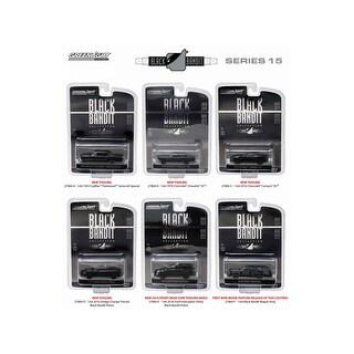 Black Bandit Series 15, 6pc set 1/64 Diecast Model Cars by Greenlight