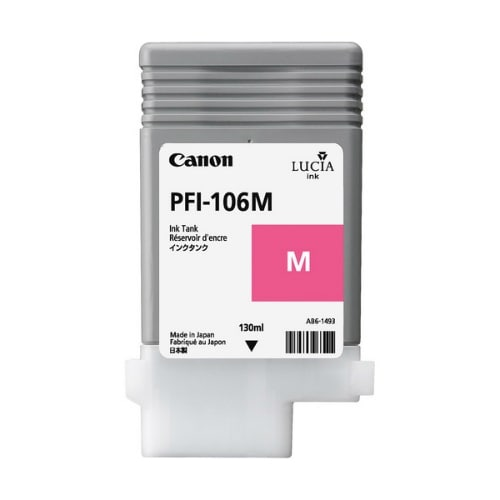 """Canon PFI-106M Ink Cartridge - Magneta Pigment Ink Cartridge 130ml"""