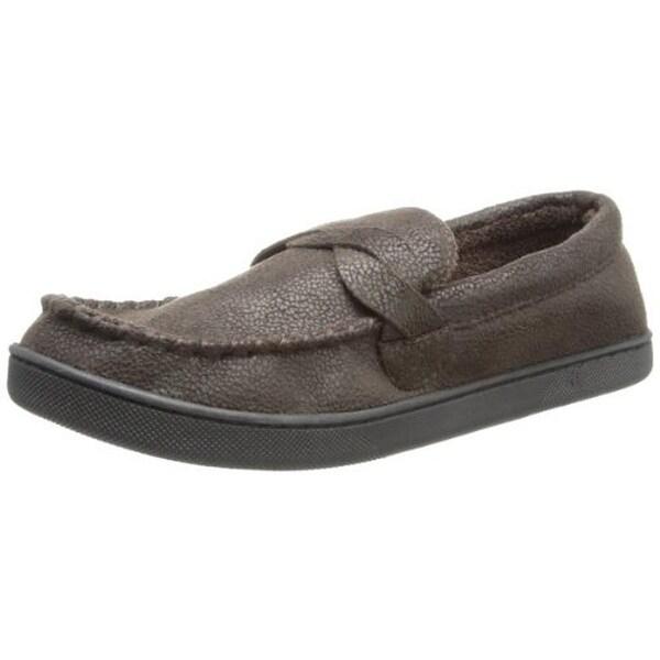 Isotoner Mens Loafer Slippers Microsuede Indoor/Outdoor
