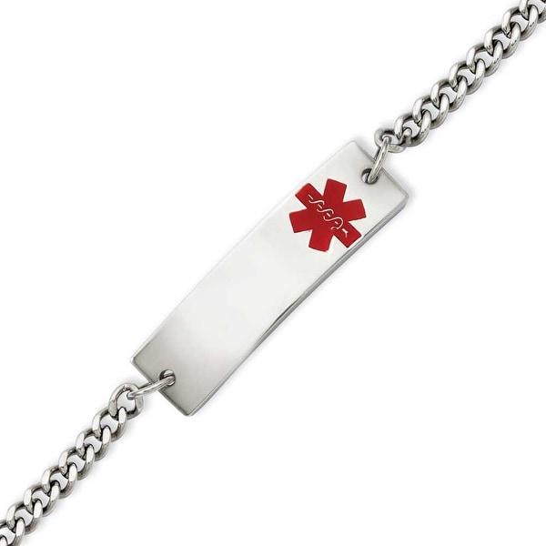 Stainless Steel Medical Jewelry 8.75in Bracelet