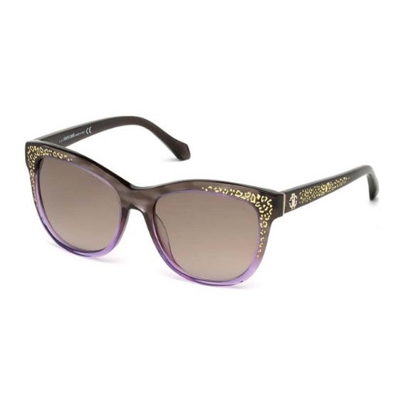 Shop Roberto Cavalli Eyewear Dark Brown Frame Gradient Brown Lens ...