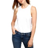 Lucky Brand Womens Tank Top Embroidered Sleeveless