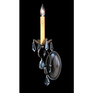 Framburg FR 9901 Crystal Up Lighting Wall Sconce from the Liebestraum Collection