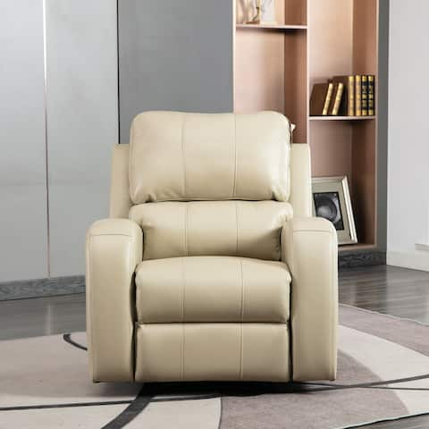 Comfortable Air Leather Recliner with USB Charge Port