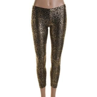 Hotsauce Style Womens Metallic Cheetah Print Leggings - S