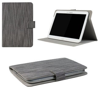 "JAVOedge Classic Stripe Universal 7-8"" Book Case for the iPad Mini, Samsung Tab, Nexus 7, Nook HD (Gray)"