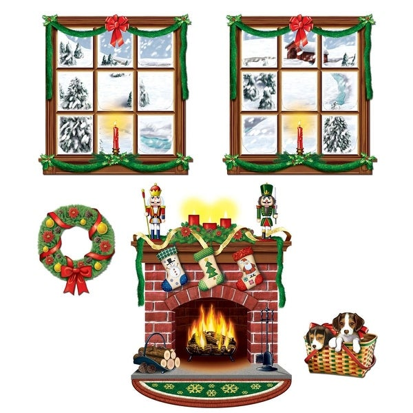 "Club Pack of 60 Christmas Holiday Indoor Decoration Props 15"" - 49"" - green"
