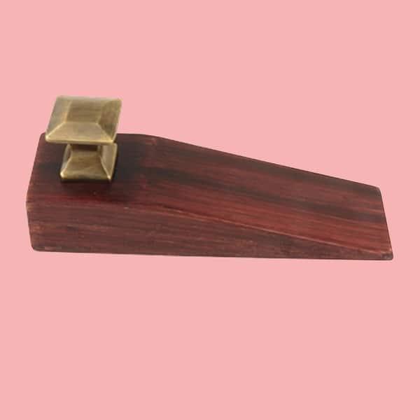 Door Wedge Solid Mango Wood Oil Rubbed Bronze Cherry Renovator S Supply
