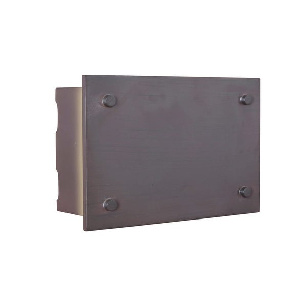 "Craftmade ICH1600 9.13"" x 6.25"" Rectangle LED Industrial Door Chime 2 Note Tone - aged iron - N/A"