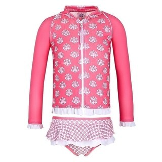 Sun Emporium Baby Girls Coral Indian Damask Zip Jacket Nappy Cover Set