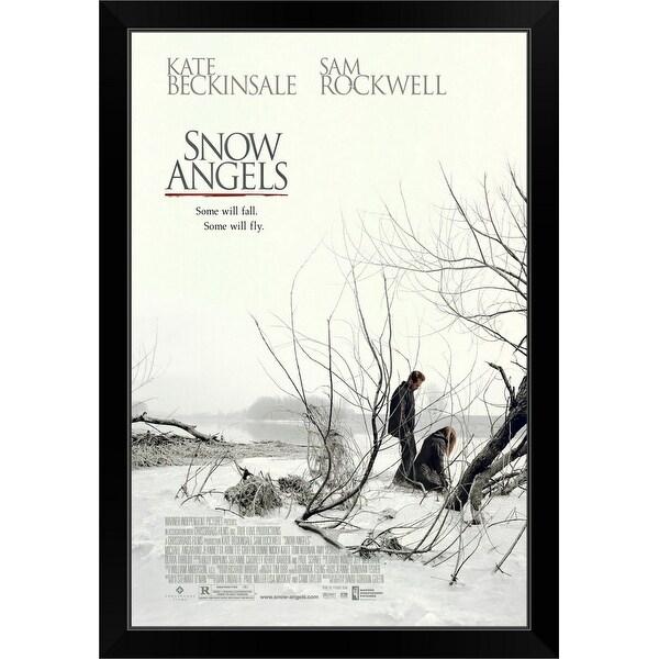 """Snow Angels - Movie Poster"" Black Framed Print"