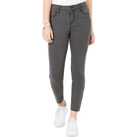 Vanilla Star Womens Juniors Skinny Jeans Denim Pinstripe