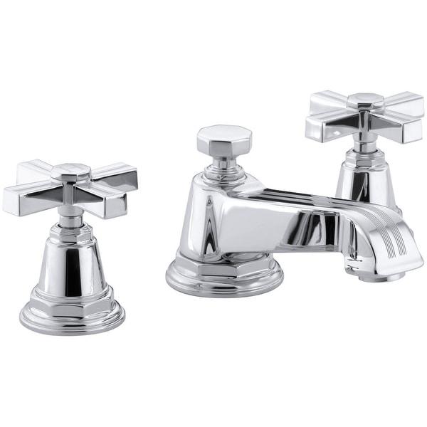 Kohler K-13132-3B Pinstripe Widespread Bathroom Faucet with Ultra-Glide Valve Technology