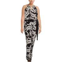 Lauren Ralph Lauren Womens Jumpsuit Printed Wide Leg - 2x