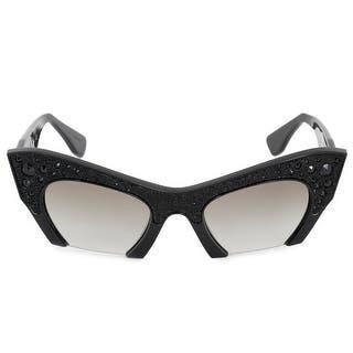 817a96a3f9 Miu Miu Women s MU10NS Black and Gold with Grey Gradient Lenses Sunglasses.  Quick View