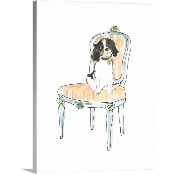 June Erica Vess Solid-Faced Canvas Print entitled Petite Chien I