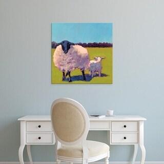 Easy Art Prints Carol Young's 'Sheep Pals III' Premium Canvas Art
