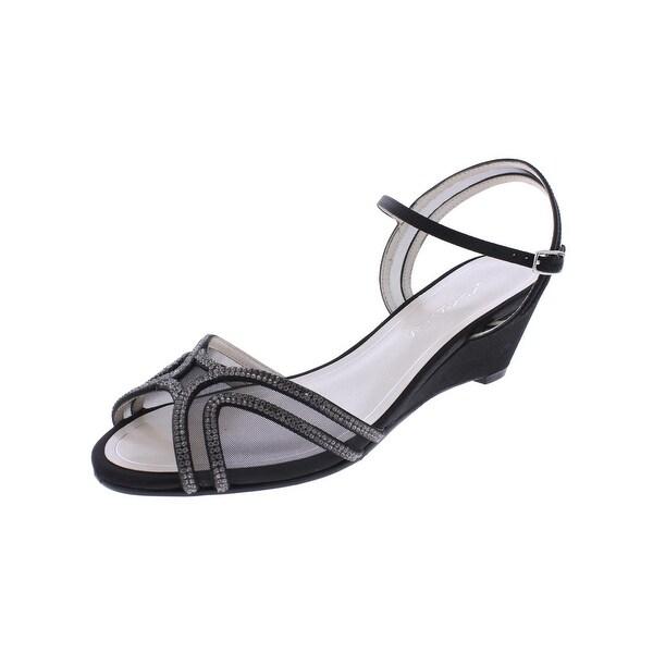 Caparros Womens Hilton Wedge Sandals Rhinestone Peep-Toe