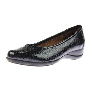 Naturalizer Womens Harty Patent Textured Round-Toe Shoes - 8 narrow (aa,n)
