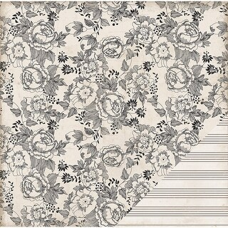 "American Crafts Double-Sided Cardstock 12""X12""-Vintage Floral"