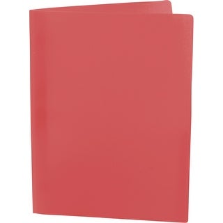 Storex Eco Plastic Recycled Report Cover with Prongs, 8-1/2 X 11 in Letter, Red