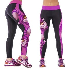 New Women's Cartoon Print Gym Running Yoga Pants High Rise Stretch Leggings Sweatpants Trousers