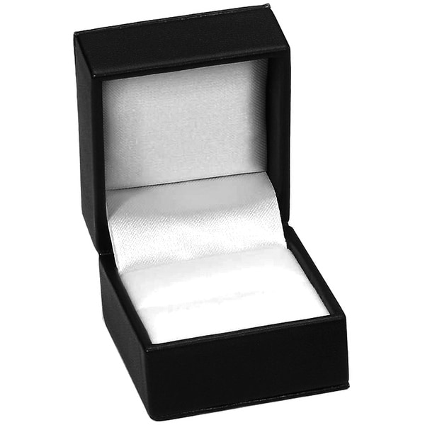 "Ring Box 2""X1.75""X1.5""-Black Leatherette - Black"